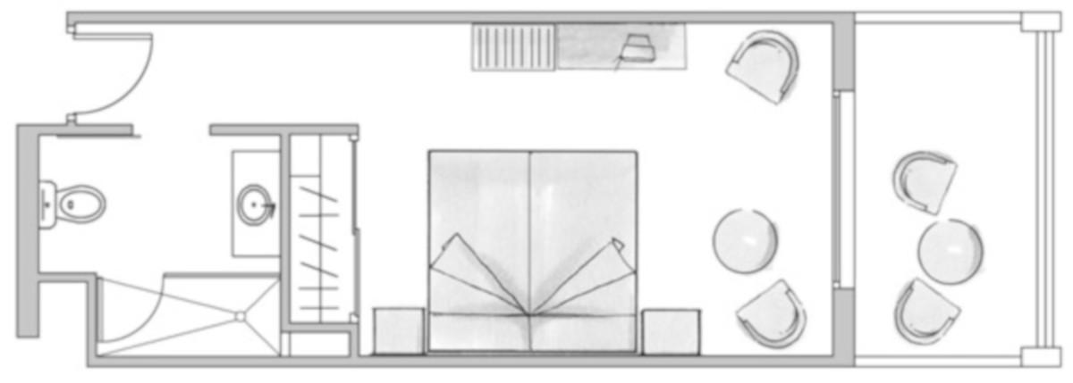 RIU Arecas - pôdorys dvojlôžková izba (DDSB, DDPB)