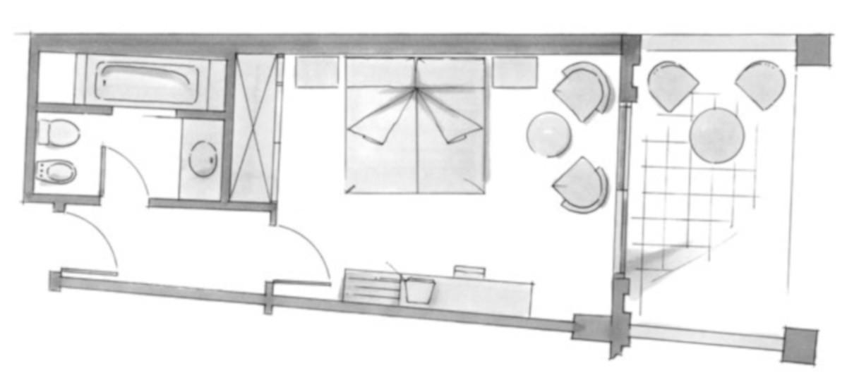 RIU Palace Maspalomas - pôdorys dvojlôžková izba DBSB