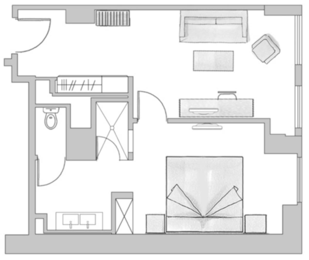 RIU Plaza Berlín - pôdorys family suite SUKF