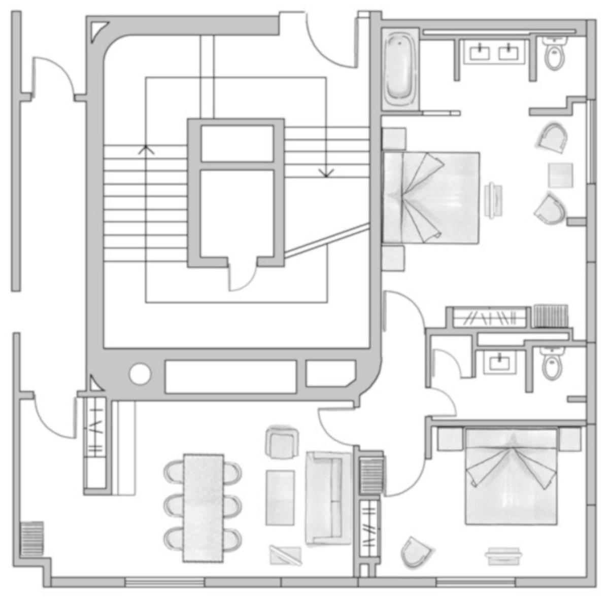 RIU Plaza Berlín - pôdorys presidential suite SPR