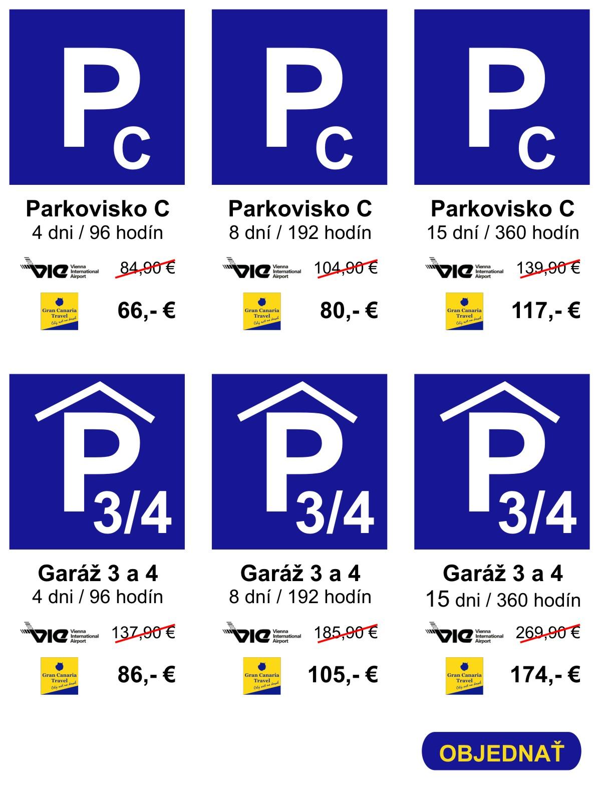 Parkovanie na letisku Viedeň