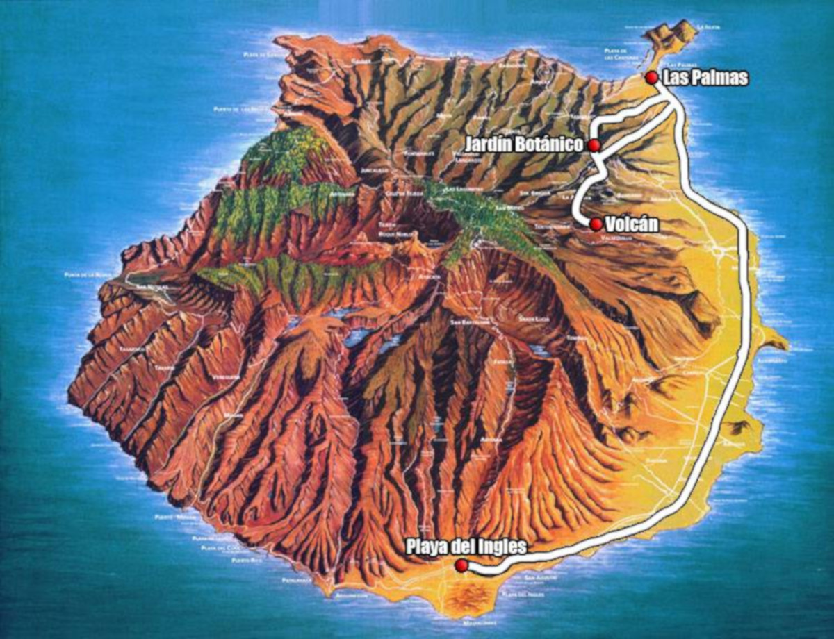 Gran Canaria, Las Palmas a botanická záhrada