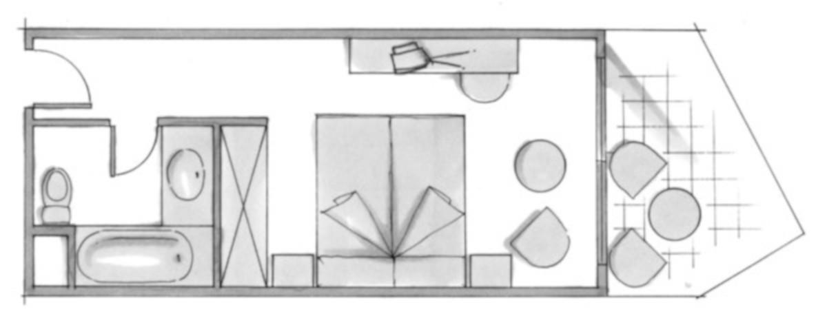 RIU Concordia - pôdorys dvojlôžková izba