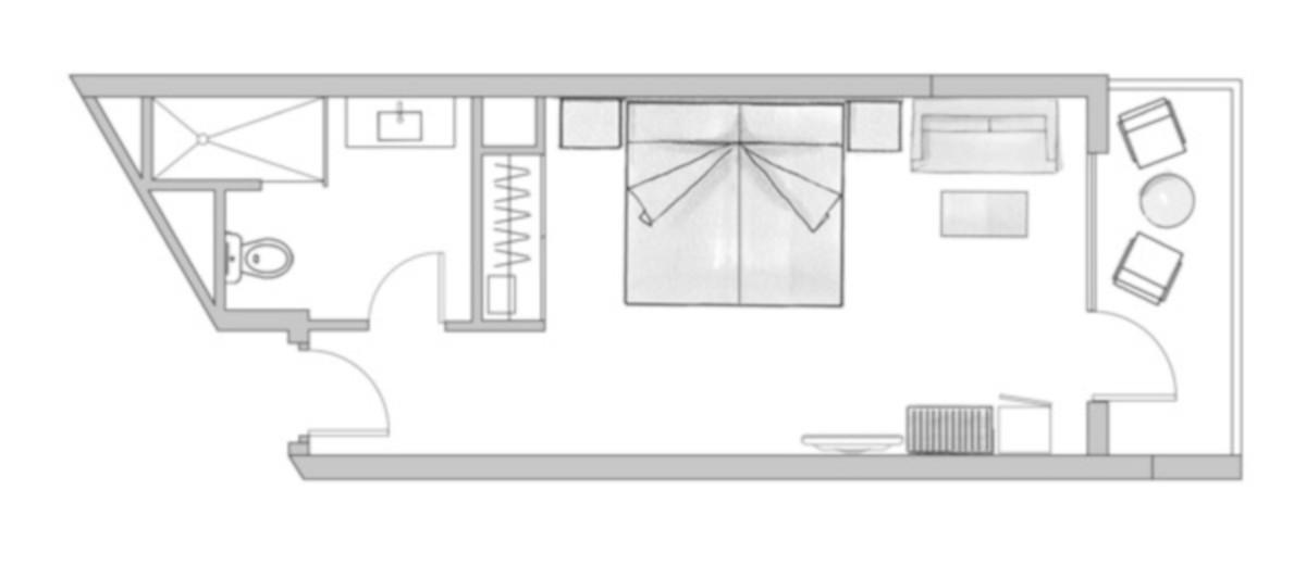 RIU Papayas - pôdorys dvojlôžková izba (DDJB, DDSB)