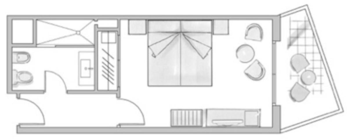RIU Costa del SOl - pôdorys dvojlôžková izba