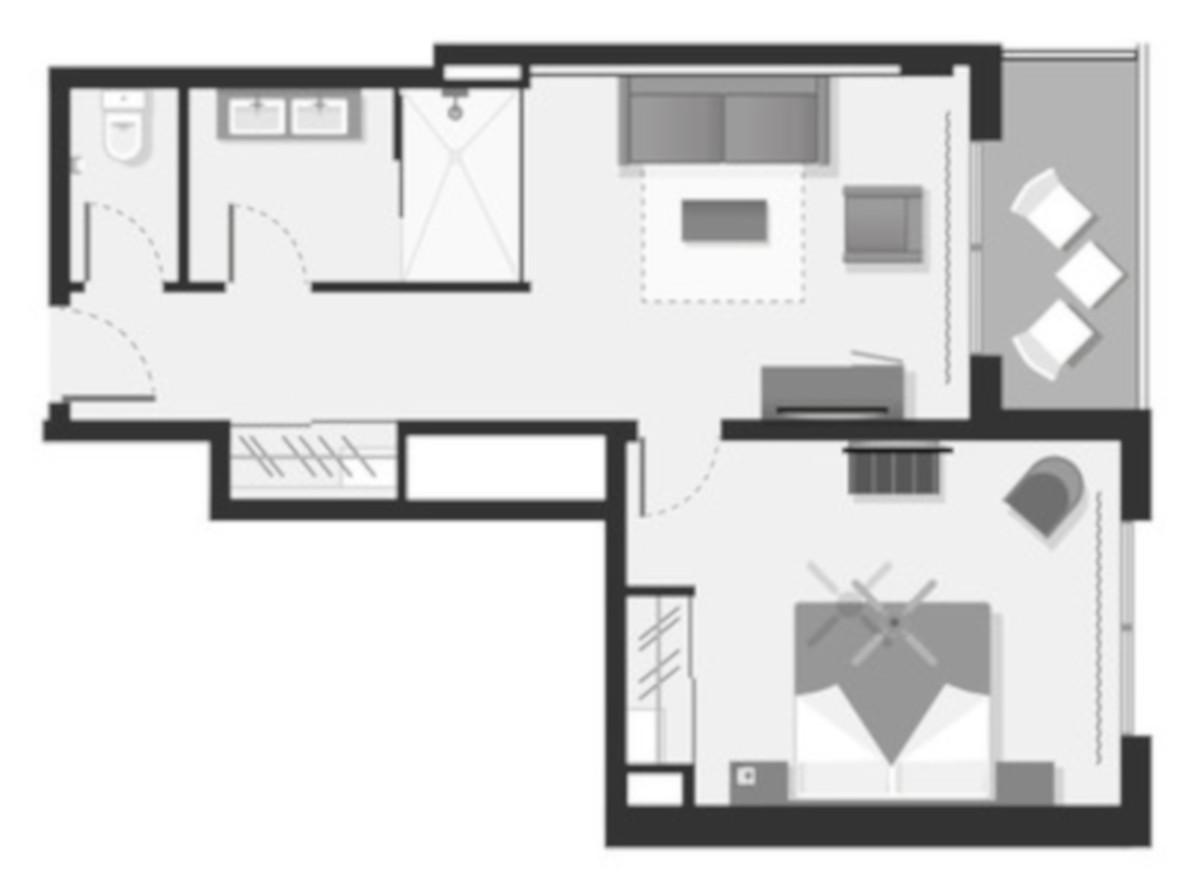 RIU Playa Park - pôdorys junior suite