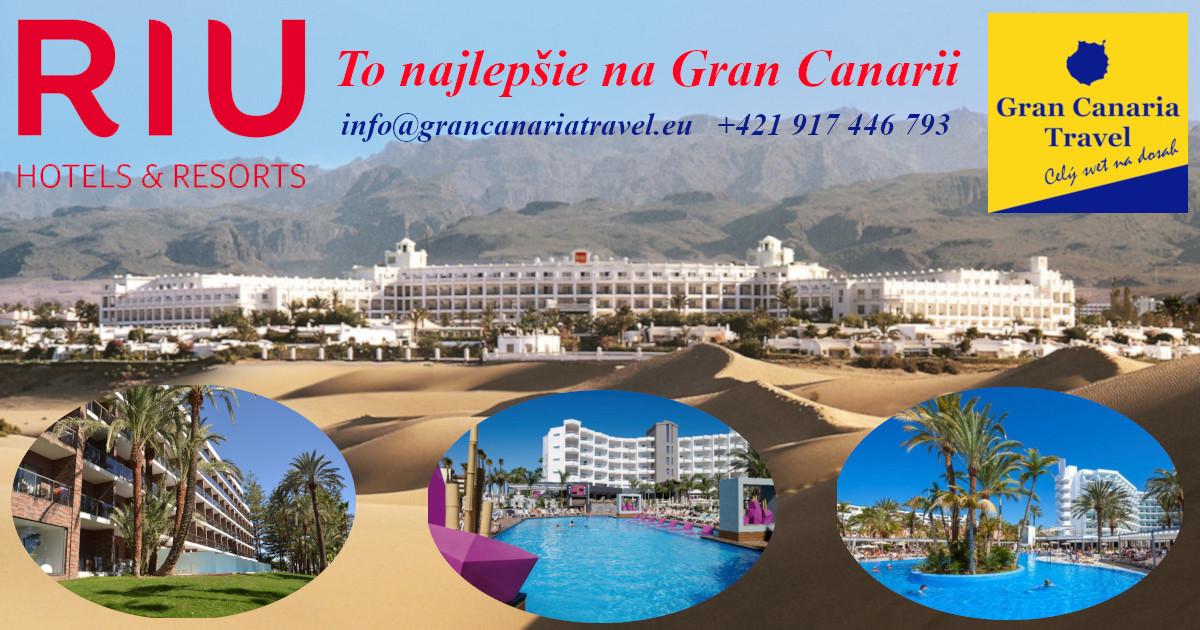 CK Gran Canaria Travel - oficiálny predajca hotelov RIU na Gran Canarii