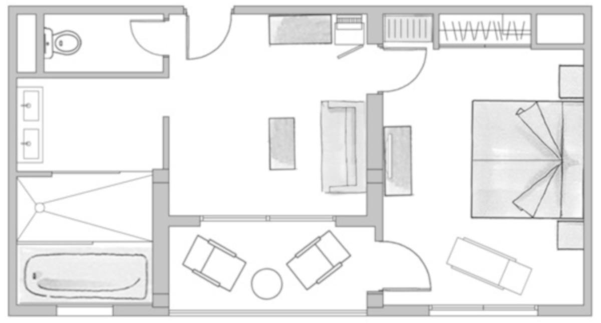 RIU Palace Oasis- pôdorys junior suite (SJSB)