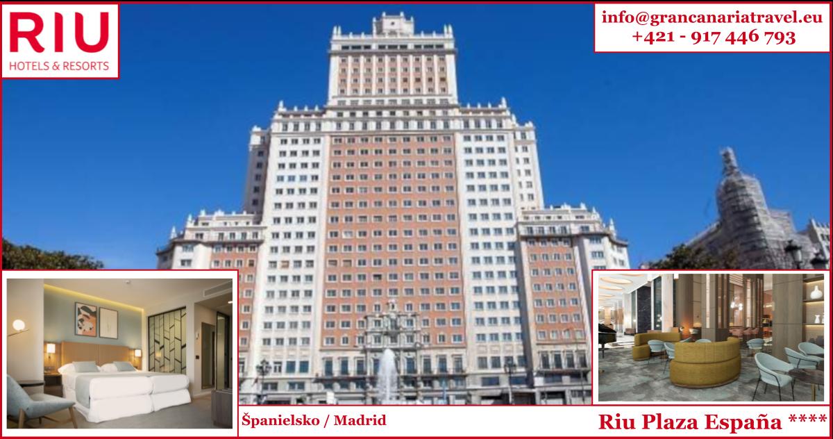 Španielsko, Madrid - RIU Plaza España